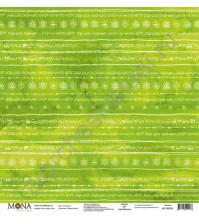 Бумага для скрапбукинга односторонняя Зимняя сказка, 30.5х30.5 см, 190 гр/м, лист 12 месяцев