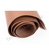 Кожзам переплетный на полиуретановой основе плотность 300 гр/м2, 35х50 см, цвет 12-коричневый