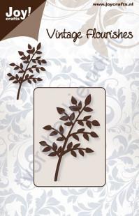 Нож для вырубки и тиснения Branch leaves (thick)-1, Ветка с листьями-1