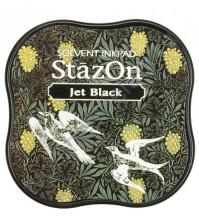 Подушечка чернильная перманентная водостойкая StazOn, размер 50х50 мм, цвет Jet Black (черный как смоль)