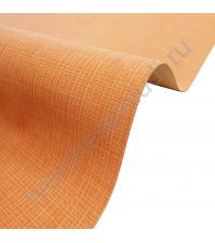 Кожзам переплетный с тиснением под холст на полиуретановой основе плотность 230 гр/м2, 50х35 см, цвет F334-оранжевый