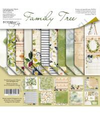 Набор двусторонней бумаги Family Tree, 20х20 см, 190 гр/м, 11 листов