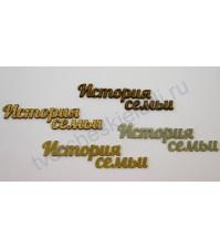 Декоративная надпись История семьи, 2 элемента, цвет в ассортименте
