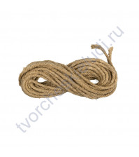 Шнур дизайнерский льняной, диаметр 6 мм, 1 метр