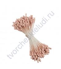 Тычинки двусторонние матовые 1.5 мм, 85 шт, цвет розовый