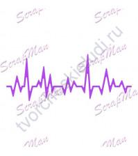 Нож для вырубки Cardiogram (Кардиограмма), 100х37 мм