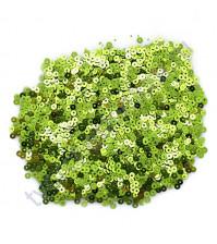 Мини пайетки круглые с эффектом металлик 3 мм, 10 гр, цвет салатовый