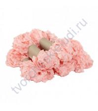 Шебби-лента мятая, Утренняя роза, ширина 14 мм, 1 метр