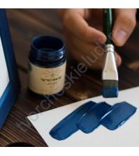 Краска акриловая перламутровая Tury Design Di-7 на водной основе, флакон 60 гр, цвет синий перламутр
