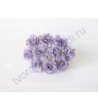Кудрявые розы 2 см, 5 шт, цвет чертополоховый