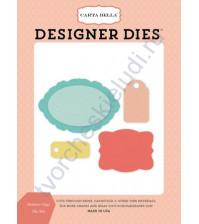 Набор ножей для вырубки Fashion Tags, 4 элемента