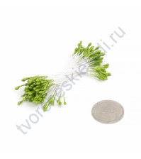 Тычинки двусторонние, пучок 86 шт, цвет зеленый