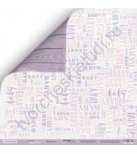 Бумага для скрапбукинга двусторонняя 30.5х30.5 см, 190 гр/м, коллекция Daddy's Princess, лист Принцесса