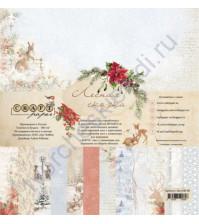 Набор бумаги Лесная сказка, 30.5х30.5 см, 190 гр/м, 12 двусторонних листов + 2 листа с карточками