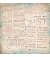 Бумага для скрапбукинга односторонняя 30х30 см Очарование, лист 11