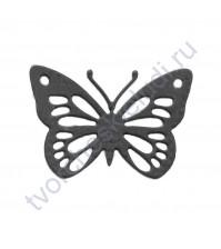 Вырубка из дизайнерской бумаги Бабочка-капустница, 43х30 мм, цвет в ассортименте