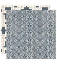 Бумага для скрапбукинга двусторонняя коллекция Strong, 30.5х30.5 см, 220 гр/м, лист Mighty