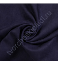 Искусственная замша Suede, плотность 230 г/м2, размер 50х70см (+/- 2см), цвет темный синий
