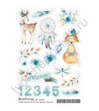 Набор декоративных наклеек Малыши, коллекция Этника.Детская, размер А6