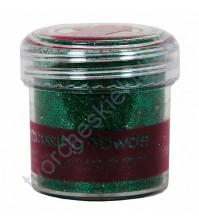 Пудра для эмбоссинга Papermania, 28.3г, цвет зеленый с блестками