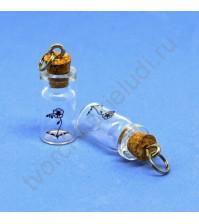 Стеклянная бутылочка с пробкой Рукоделие™, 1.0 мл, 5х25 мм, 1 штука