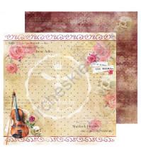 Бумага для скрапбукинга односторонняя Sherlock Holmes, 30.48х30.48 см, 190 гр/м, лист 5