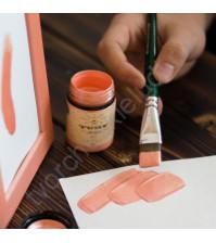 Краска акриловая перламутровая Tury Design Di-7 на водной основе, флакон 60 гр, цвет розовый перламутр