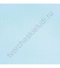 Войлочное полотно (фетр) с напечатанным рисунком Голубой в горох, 30х30 см