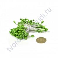 Тычинки двусторонние 3-4 мм, пучок 80 шт, цвет зеленый