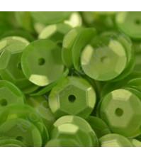 Пайетки круглые с матовым эффектом 6 мм, 10 гр, цвет зеленый