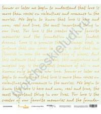 Бумага для скрапбукинга односторонняя с золотым тиснением 30.5х30.5 см, 190 гр/м, коллекция Every Day Gold, лист Golden Script Mint