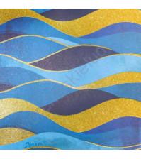 Бумага односторонняя с блестками 30.5х30.5 см, 180 гр/м2, лист Волны
