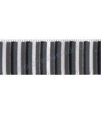 Лента атласная 12 мм с рисунком Полоски, 1 метр