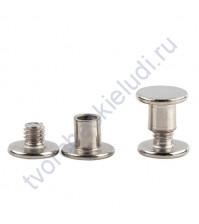 Винт для установки кольцевого механизма, высота 10 мм, цвет серебро