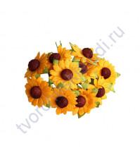 Ромашки оранжевый (подсолнухи), 2.5 см, 5 шт
