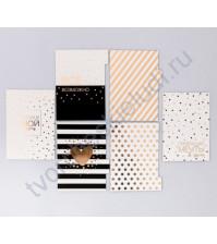 Набор картонных разделителей для планнера Черно-белое настроение, размер 16х25х0.3 см, 6 шт