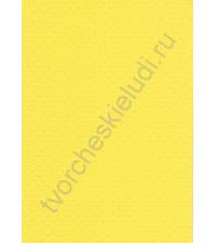 Лист бумаги для скрапбукинга с эмбоссированием (тиснением) Точки, А4, 160 гр, цвет ярко-желтый