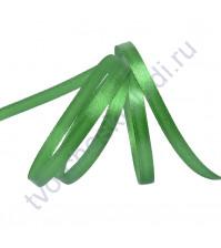 Лента атласная 6 мм, цвет зеленый-019, 1 метр