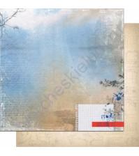 Бумага для скрапбукинга двусторонняя, коллекция Шепот, 30.3х30.3 см, 200 гр/м, лист 002