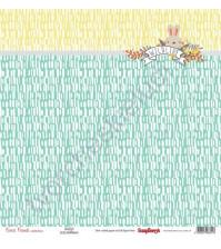 Бумага для скрапбукинга односторонняя, коллекция Лес Чудес, 30.5х30.5 см 190 гр/м, лист Пушистый друг