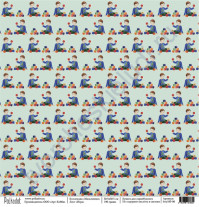 Бумага для скрапбукинга односторонняя, коллекция Мальчишки, 30.5х30.5 см, 190 гр\м2, лист Игра