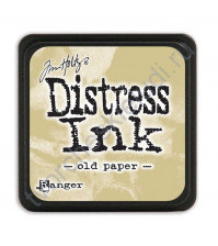 Штемпельная мини-подушечка Tim Holtz Distress Mini Ink Pads на водной основе, 2.5х2.5 см, цвет старая бумага (old paper)