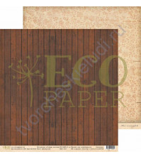 Бумага для скрапбукинга двусторонняя 30.5х30.5 см, 250 гр/м, коллекция Старые письма, лист Шкатулка