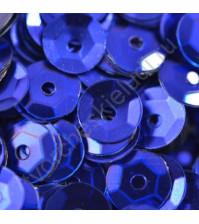Пайетки круглые с эффектом металлик 6 мм, 10 гр, цвет василек