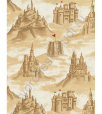 Ткань для лоскутного шитья, Песочные замки, 50 погонных см