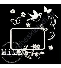 Набор чипборда Первые цветы, коллекция Весна, размер 7.5х10см