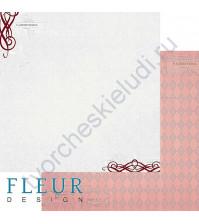 Лист бумаги для скрапбукинга Стужа, коллекция Зимние чудеса, 30х30, плотность 190 гр