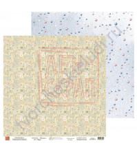 Бумага для скрапбукинга, 30.5х30.5 см, плотность 190 гр/м2, коллекция Потешки, лист Цифры
