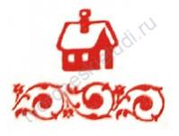 Штемпельная подушечка на водной основе, 3х3 см, цвет 025-малина