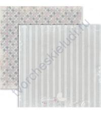 Бумага для скрапбукинга двусторонняя, коллекция Sweet Time, 30х30 см 190 гр/м, лист Сладких снов